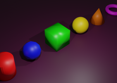 Blender 3D Shapes Rendered Using Cycles