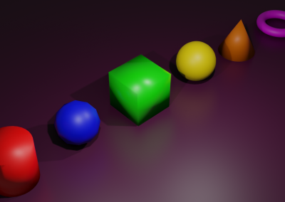 Blender 3D Shapes Rendered Using Evee